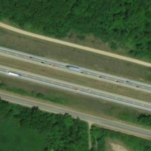 Michigan I-94 multiple-vehicle collision site (Bing Maps)