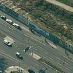 Remains of Berlin Wall (Mühlenstrasse) (Bing Maps)