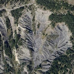 Germanwings Flight 9525 crash site (Bing Maps)