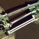 Three bridges over River Conwy (Bing Maps)