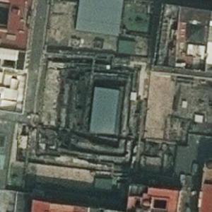 Aztec ruins of Templo Mayor (Bing Maps)