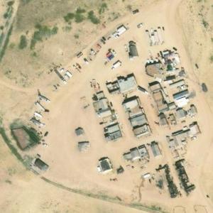 'Silverado' Wild West Movie Set on Tom Ford's Ranch (Bing Maps)