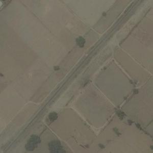 Pukhrayan train derailment site (20 November 2016) (Bing Maps)