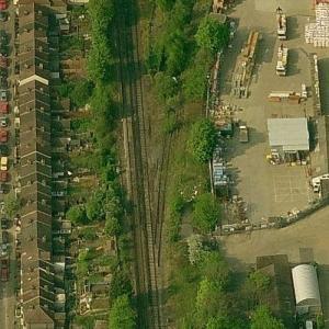 South Croydon rail crash (10/24/1947) (Birds Eye)