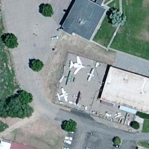 Aircraft static display at Colorado Northwestern Community College (Bing Maps)