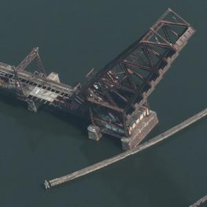 Crook Point Bascule Bridge (Birds Eye)