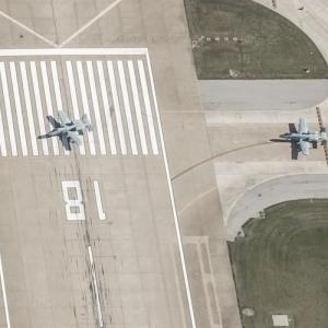 A-10's Taxing for takeoff (Birds Eye)