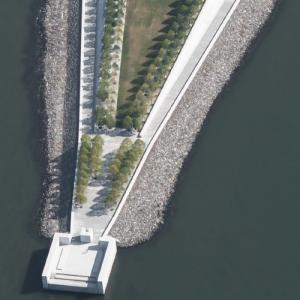 'Franklin D. Roosevelt Four Freedoms Park' by Louis Kahn (Birds Eye)