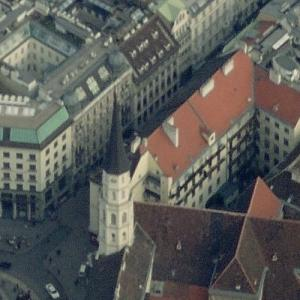 St. Michael's Church, Vienna (oldest church in Austria) (Birds Eye)
