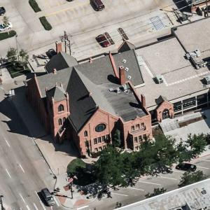 First United Methodist Church (oldest church in Wyoming) (Birds Eye)