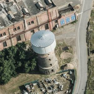 Waldhof Papierfabrik Papyrus water tower (Birds Eye)