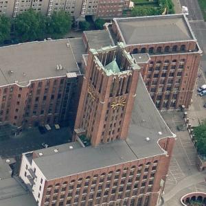 Ullsteinhaus tower (Birds Eye)