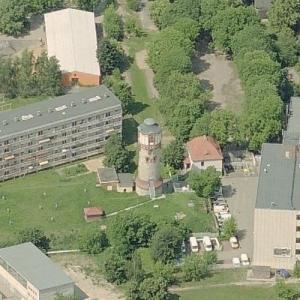 Frankfurt an der Oder Robert Havemann Street water tower (Birds Eye)