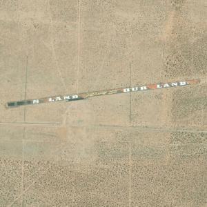 World's Largest Illegal Graffiti, Cuddleback Lake, CA (Bing Maps)