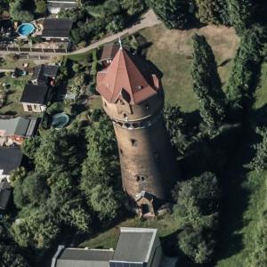 Leipzig-Paunsdorf water tower (Birds Eye)