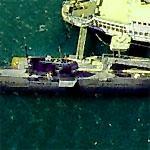 B-39 Soviet Attack Submarine on San Diego's waterfront (Birds Eye)