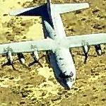 C-130(x2) Approaching Palmdale (Birds Eye)