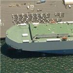 World's largest Car Carrier/Reefer - 'M/V Sunbelt Spirit' (Birds Eye)