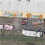 Mardi Gras World and parade floats (Birds Eye)