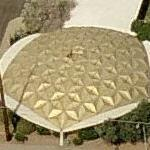 1962 gold geodesic dome (soon to be torn down) (Birds Eye)