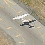 Landing At Palo Alto Airport (Birds Eye)