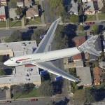 Airplane - British Airways 747 approaching LAX (Birds Eye)