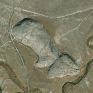 Independence Rock Wyoming State Historical Site (Bing Maps)