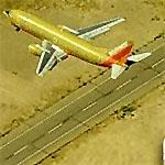 Airplane - Southwest landing Southeast (Birds Eye)