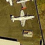 T-33A Shooting Star at Oakland International (Birds Eye)