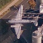 Rooftop Plane at the Berlin Technology Museum (Bing Maps)