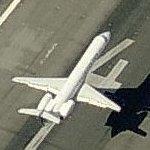 Airplane Landing at Newark Liberty Airport