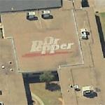 Dr. Pepper Logo on School Roof