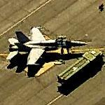 F-18 readied for takeoff at Davis-Monthan AFB (Birds Eye)