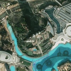 Burj Khalifa - Tallest building in the world (Bing Maps)