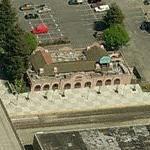 Now vacant 1913 Southern Pacific Railroad Station (Birds Eye)