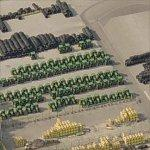 Tractors & Stacks of Tires at John Deere Werke (Birds Eye)