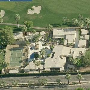 Frank Sinatra Compound in Rancho Mirage (Birds Eye)