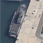 Italian San Giorgio class small amphibious assualt ship 'MM San Giusto' (L9894) (Birds Eye)