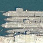 Three Lafayette class SSBNs and two Los Angeles class SSNs (Birds Eye)