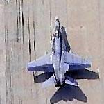 F-18 returning to Ellington Field