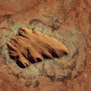 Uluru / Ayers Rock (Bing Maps)