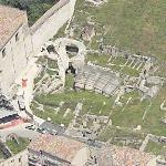Roman Amphiteatre ruins (Birds Eye)