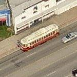 Galveston trolley (Birds Eye)
