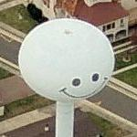 Smiley Water Tower (Birds Eye)