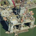 Transocean Prospect semi-submersible drilling platform (Birds Eye)
