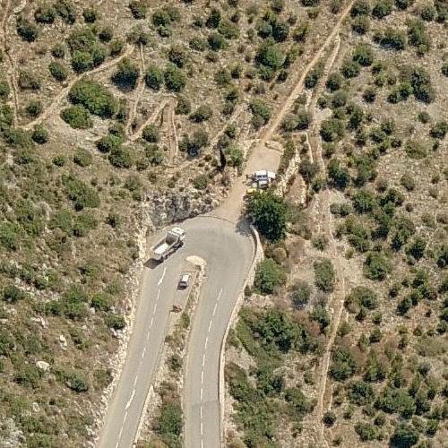 Princess Grace of Monaco accident site (Birds Eye)