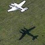 Small plane on approach to Erie International (Birds Eye)