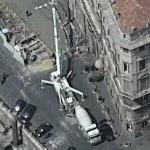 Pumping concrete in Rome (Birds Eye)