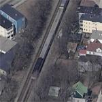 Train just South of Boston, MA