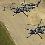 Transient AgustaWestland EH101 helicopters (Birds Eye)
